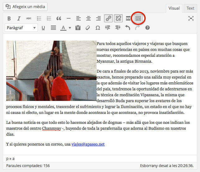 Editor de WordPress
